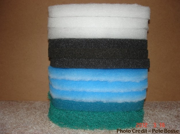 A Stack of Filter Sponges: Coarsest on Bottom, Finest on Top